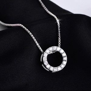 .925 Sterling Silver Circle Pendant necklace
